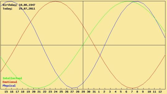 my biorhythm chart