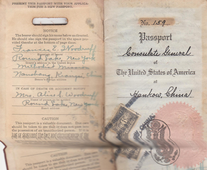 My aunty's Chinese passport 1934