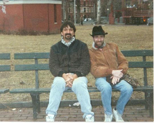 with my brother Robert Adsit in Washington Square New York City months before he died of AIDS in 1991