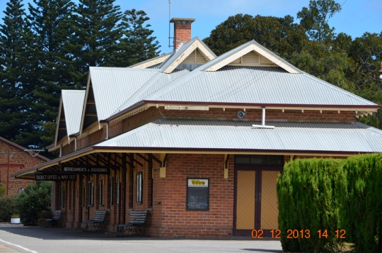The railroad station at Victor Harbor