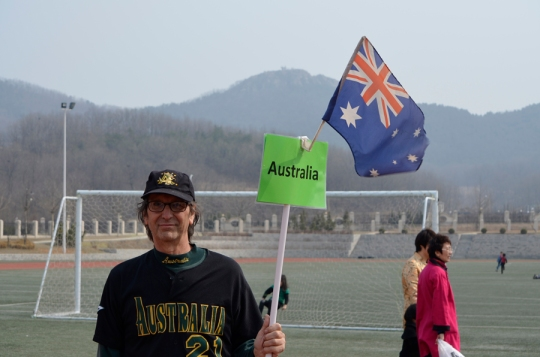 me at Dalian American International School on International Day