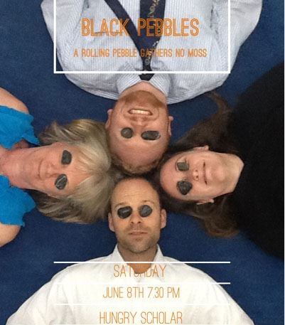 The Black Pebbles live at Campus Cafa Dalian American International School
