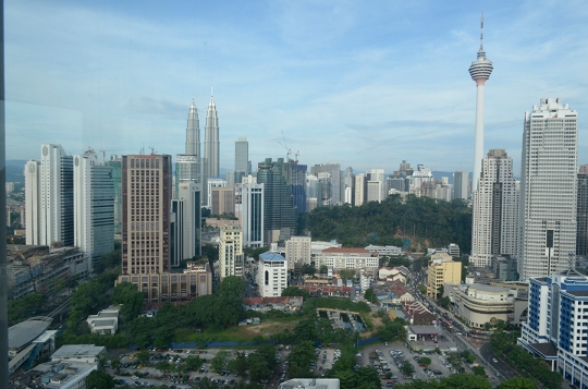 view from 26th floor room at the Premiera Hotel Kuala Lumpur