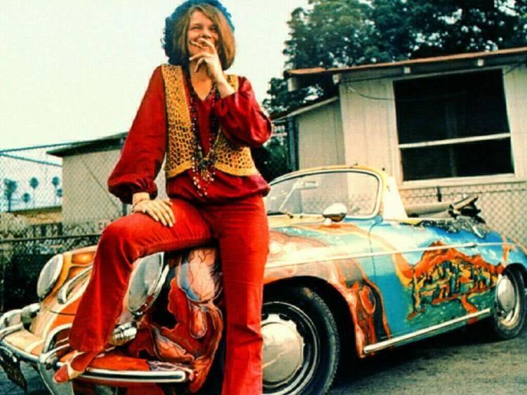 Janis Joplin's psychedelic painted 1965 Porsche 356c Cabriolet