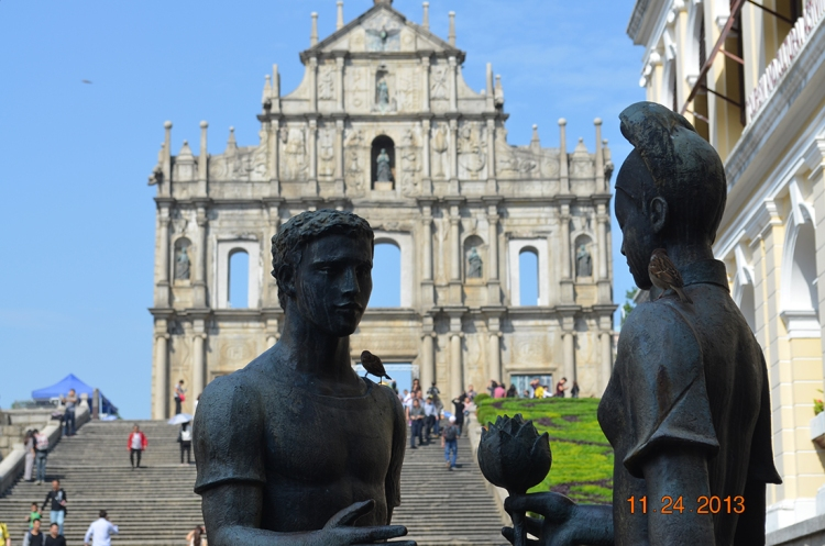 The Ruins of St. Paul's (Portuguese: Ruínas de São Paulo, Chinese: 大三巴牌坊; pinyin: Dàsānbā Páifāng)