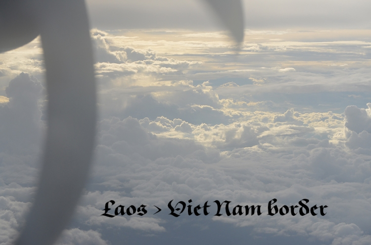 flying over Laos toward Viet Nam
