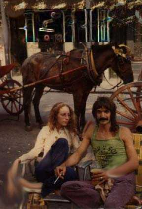 Jackson Square New Orleans with a passing stranger and a horse