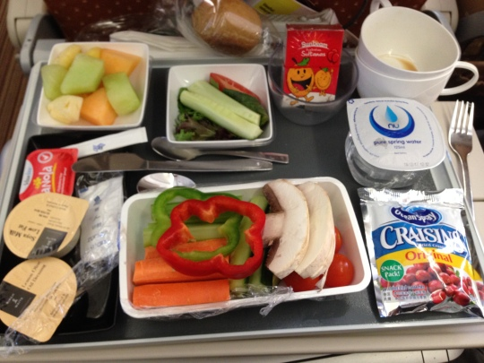 Singapore Airlines low carbs vegetarian