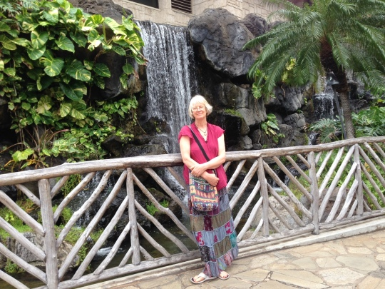 Narda chilling at the Hilton Hawaiian Village
