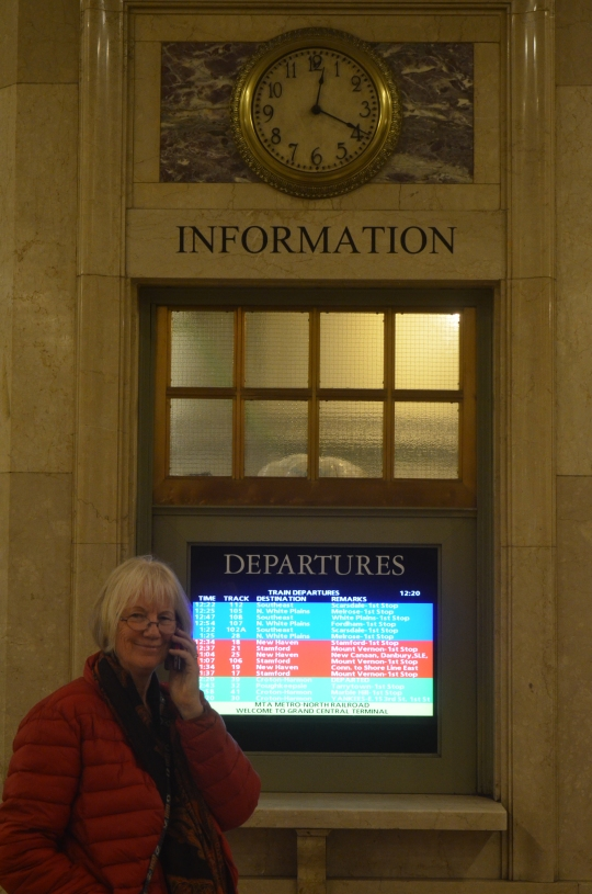 Information girl at Grand Central Station New York CIty