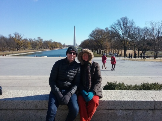 Chris and Narda in front of Lincoln Memorial
