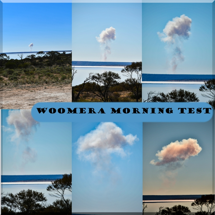 Woomera morning test