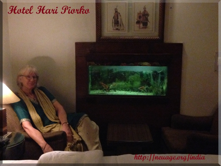Hotel Hari Piorko in Paharganj area in the Main Bazar of Delhi, India