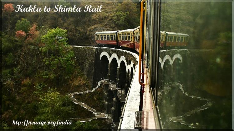 Kalka to Shimla railroad