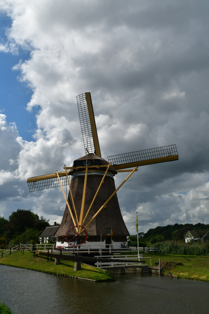 The windmills are to regulate the polders –