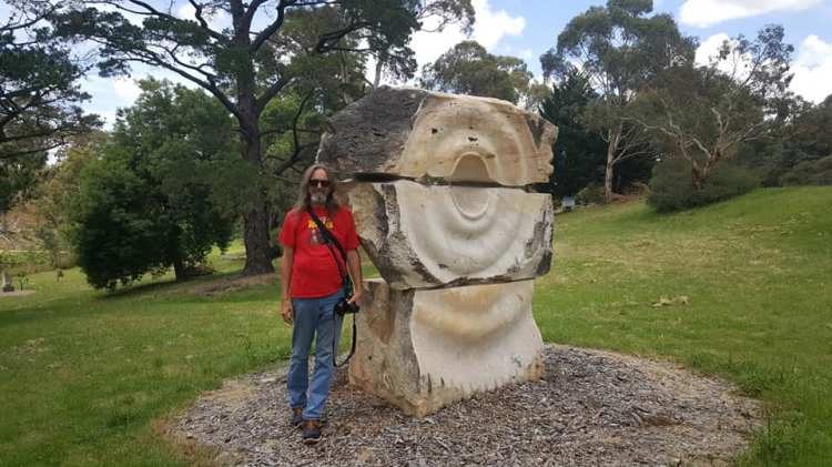 'Watersong' Stone - Marble from Paris Creek, South Australia. Artist, Yoshin Ogata, Japan