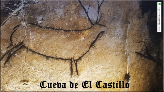 The Cueva de El Castillo, or Cave of the Castle in the caves of Monte Castillo, in Puente Viesgo, Cantabria, Spain.