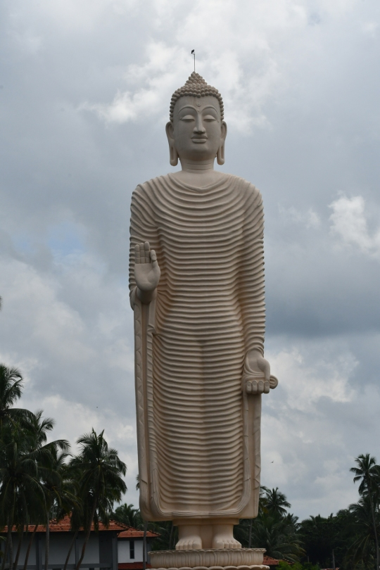 Locals said that the water from tsunami came up to the shoulder of this statue which is 30-metres high