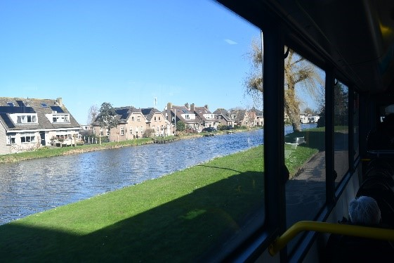 on bus to Gouda