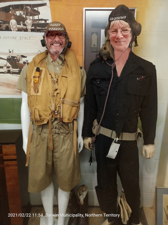 Darwin Aviation Museum: two crazy pilots